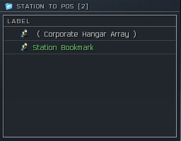 Bookmarks order when transporting stuff from a Station to a POS!